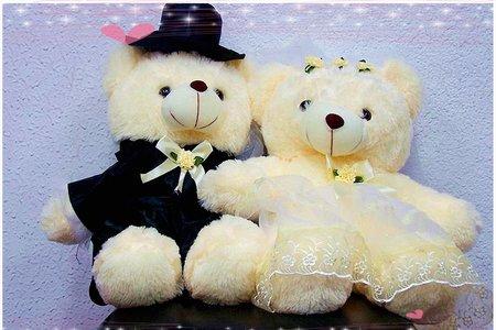 台灣製造的不同尺寸婚紗熊 限時優惠中