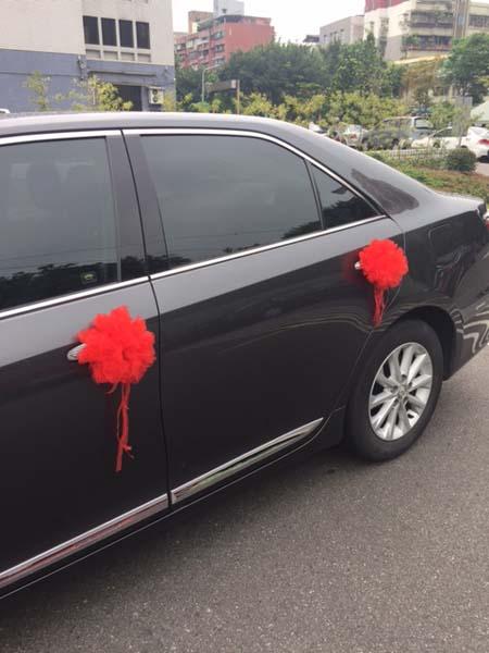 紗網繡球型車門手把花
