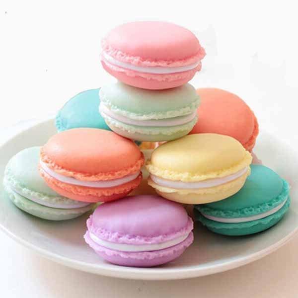 仿真可愛小不點法國甜點熊馬卡龍飾品盒