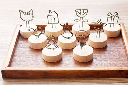 日式然木鐵藝 可愛造型圓底便條夾