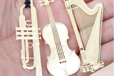 韓國現代古典樂器 交響樂 金屬鏤空書籤