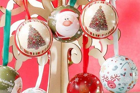 歡樂耶誕城 耶誕期間限定小物 快樂耶誕城 聖誕節限定四元素禮物球 歡樂耶誕新年城 聖誕球 耶誕禮物球