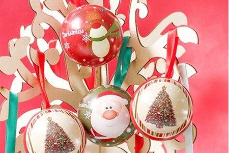 聖誕節四元素禮物球 聖誕球 耶誕禮物球