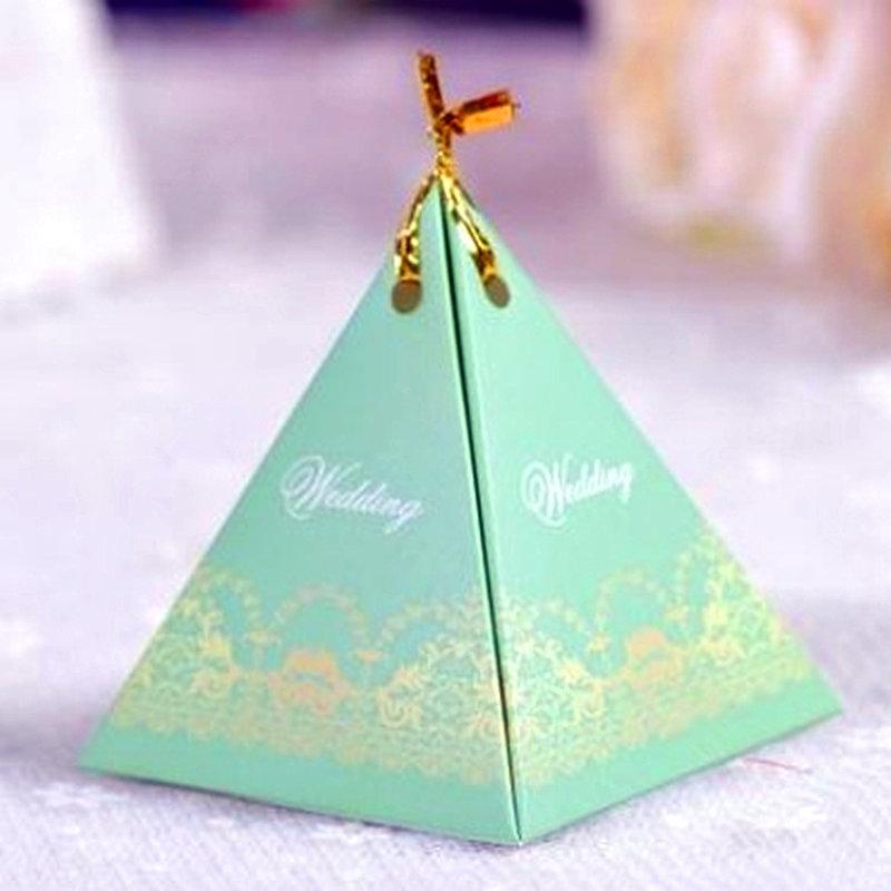 綠色-三角喜糖袋 糖果盒