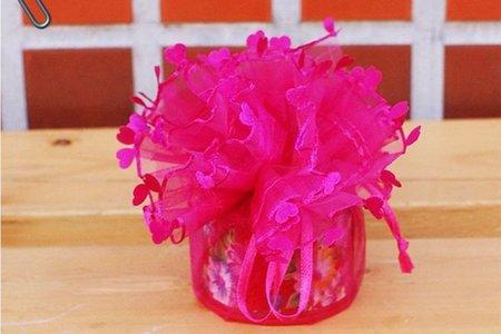 圓形紗袋 喜糖-婚禮小物-小果醬-金莎