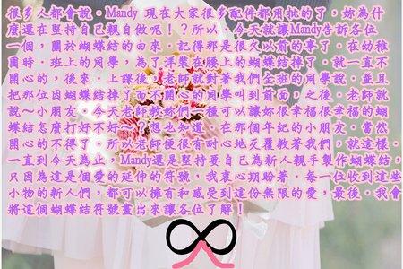 ∞  沁琳堅持親手製作蝴蝶結的由來 ∞