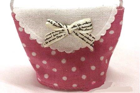 👛手工製作-蝴蝶結點點和小花兒喜糖包
