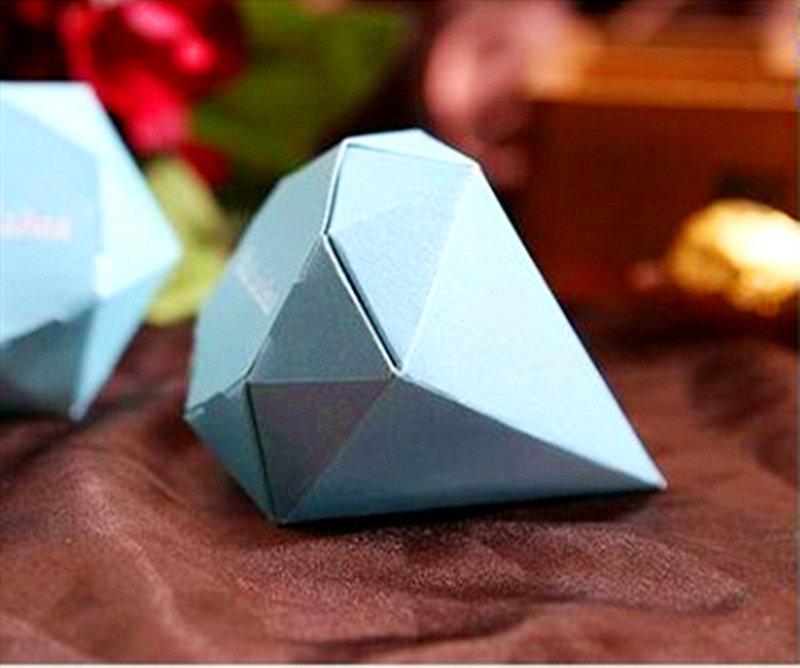 淺藍色鑽石糖盒
