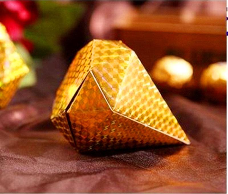 金蔥色鑽石糖盒