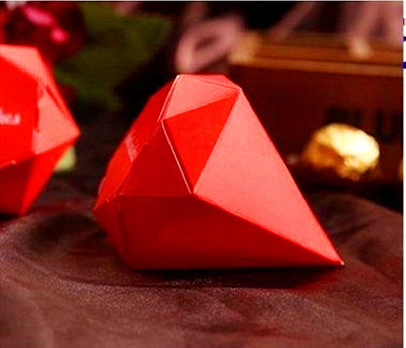 紅色喜氣鑽石糖盒