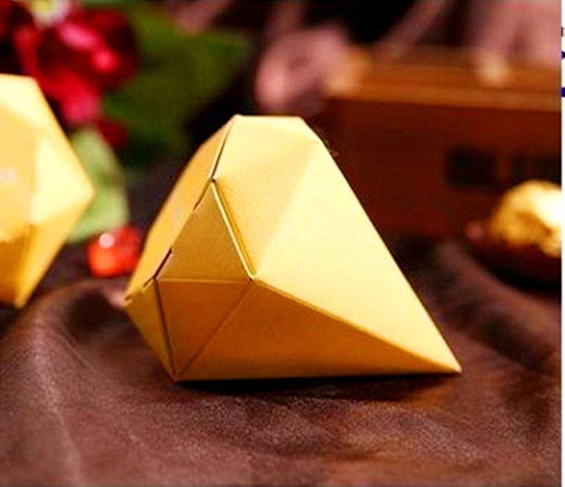 金色霧面鑽石糖盒