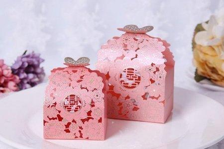 熱賣燙金蝴蝶花喜糖盒 浪漫蝶戀花 喜糖盒