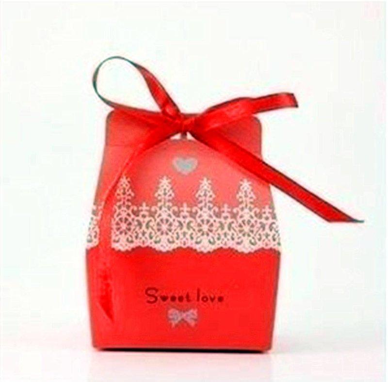 蕾絲花邊歐式喜糖盒-婚禮小物