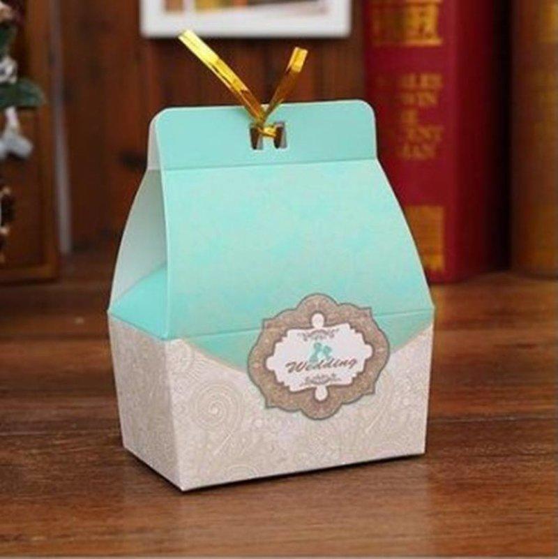 歐式花紋喜糖盒 紙盒