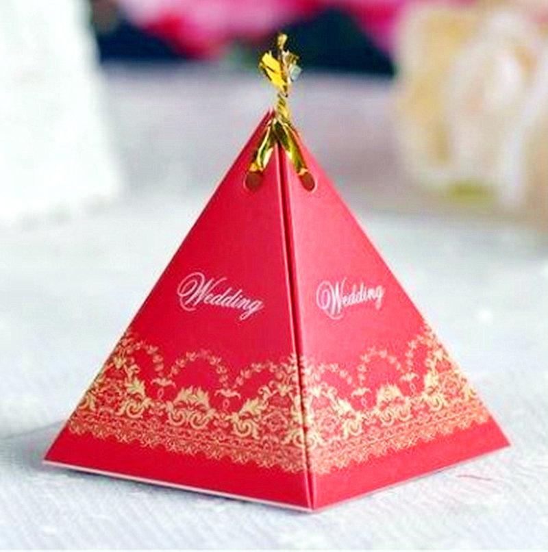 三角喜糖盒 糖果盒 紙盒