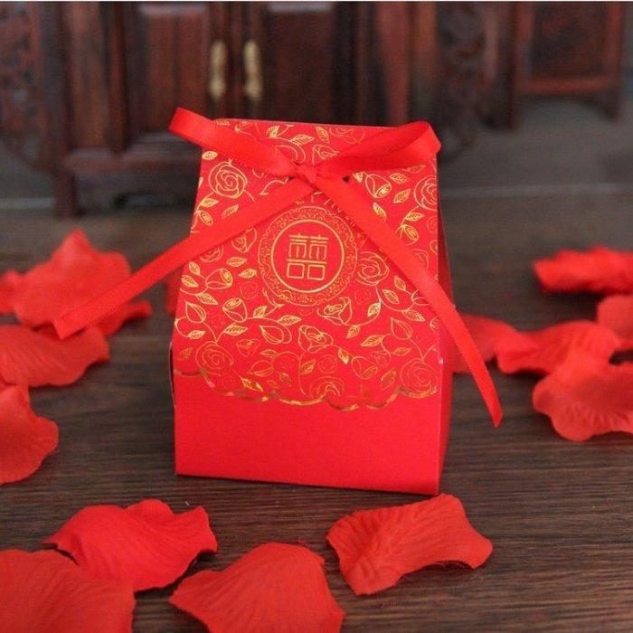 中國風 囍字喜糖盒 喜糖盒
