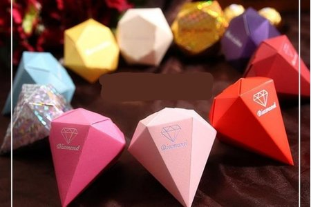 鑽石喜糖盒訂購及附贈進口喜糖.不挑糖款.