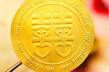 獨家金箔燙金喜字貼紙 設計印製 喜帖貼