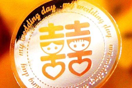 喜帖貼紙 K12 - 透明燙銀貼紙