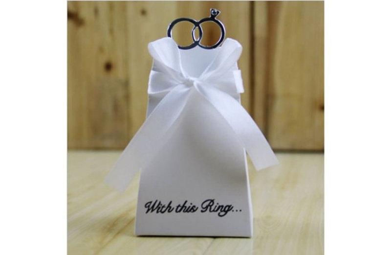 現貨-歐式鑽戒喜糖盒