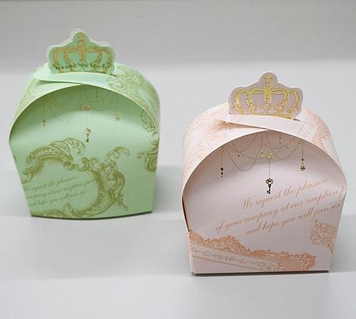 燙金 皇冠喜糖盒 婚禮小物 包裝盒 桌上