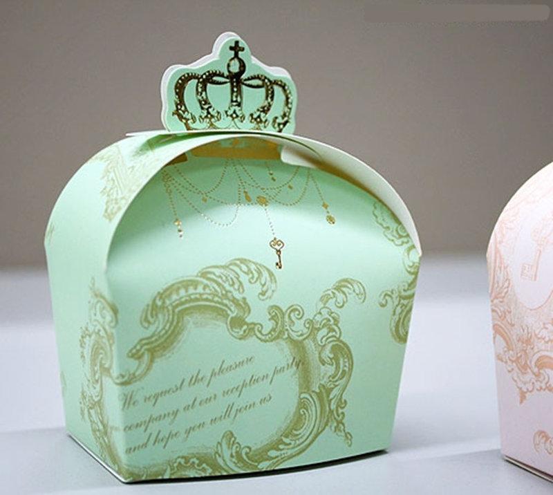 燙金 皇冠喜糖盒 婚禮小物 包裝盒