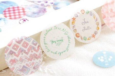 十二種甜味系列和紙貼紙包 貼紙 25枚