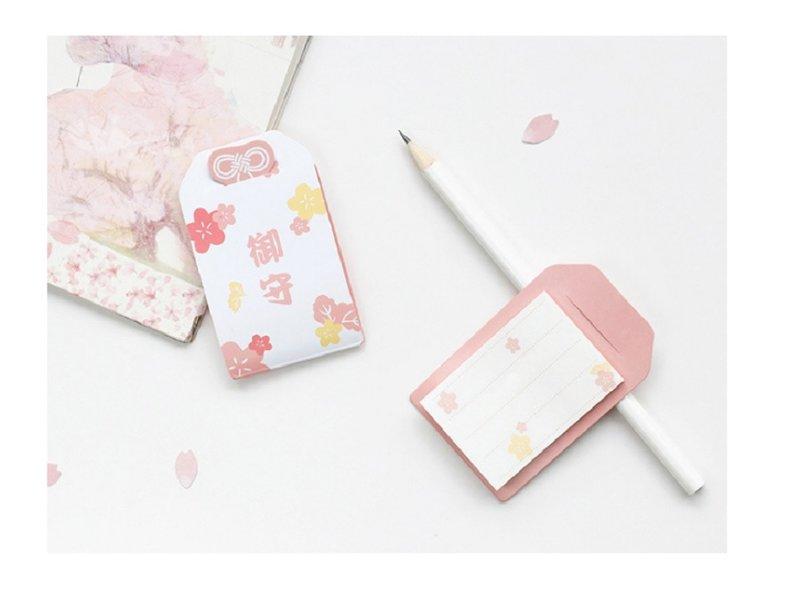 婚禮實用小物 #綬帶結櫻花御守便條紙