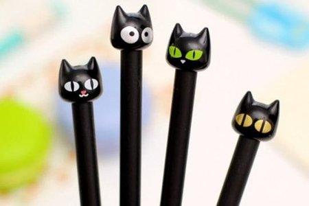 創意文具小野貓爪中性筆 全針管頭黑色簽字