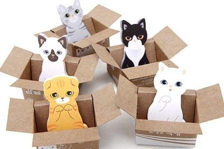 【進口】二代求包養愛貓園小巧盒裝便條紙