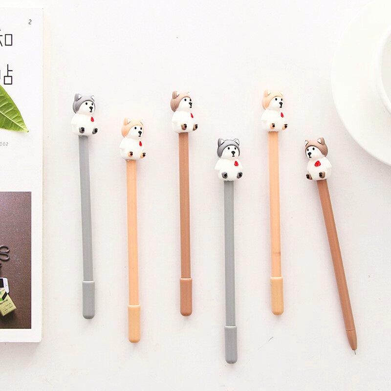 韓版可愛小狗中性筆 哈士奇狗狗 小狗造型