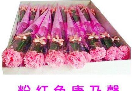 康乃馨香皂花束 精裝版母親節花束 康乃馨