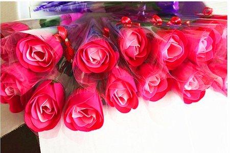 玫瑰花束 單色與三色玫瑰 仿真花 香花束