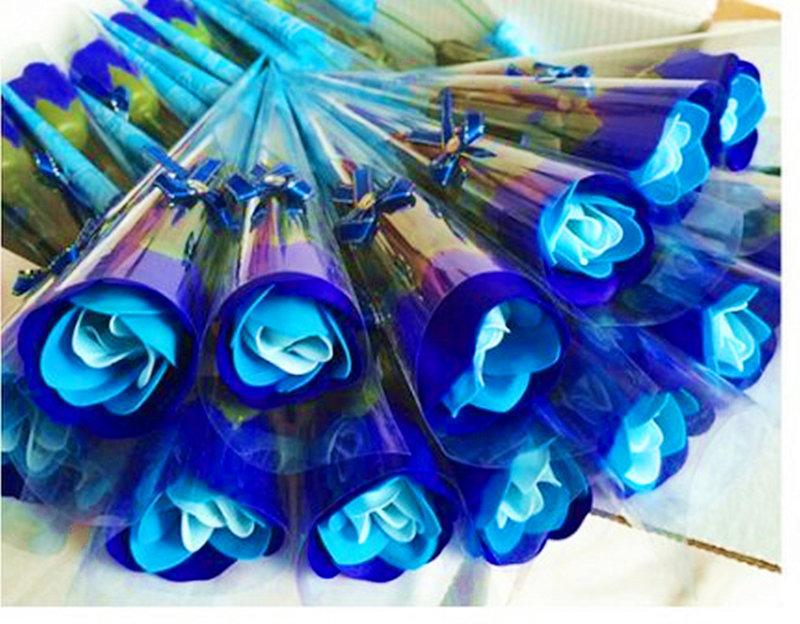玫瑰花皂三色漸層花束 新款玫瑰花束