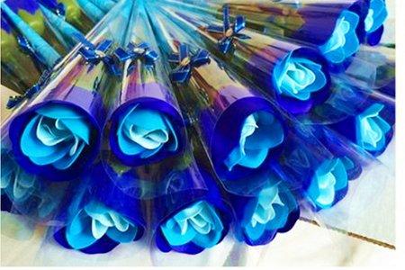 玫瑰花皂三色漸層花束 新款玫瑰花束 小物