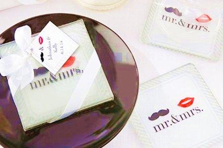 新增款式鑽戒玻璃杯墊禮盒(精緻款)送客禮