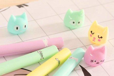 沁琳婚禮 新進小物 多款韓國貓咪造型筆 可愛萌貓中性筆 動物中性筆