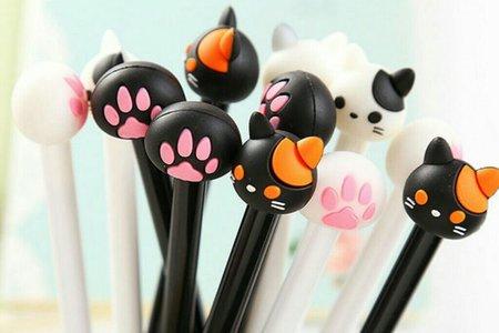 韓國創意水筆 卡通可愛猫咪猫爪中性筆