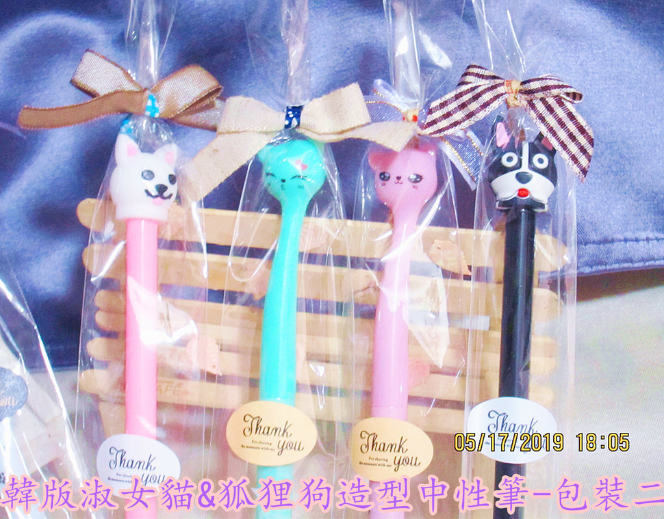 韓版淑女貓&狐狸狗造型中性筆-包裝二 - 沁琳婚禮品/創意小物 禮俗用品/婚禮統籌 - 結婚吧