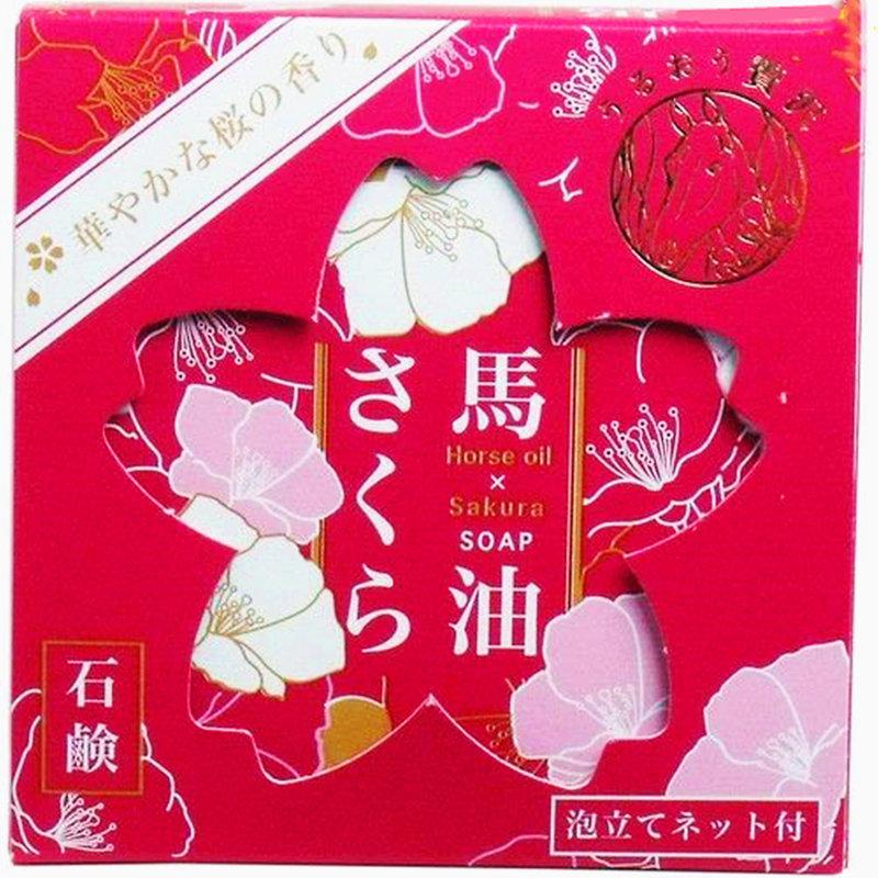 日本製 櫻花馬油 護膚皂 盒裝香皂