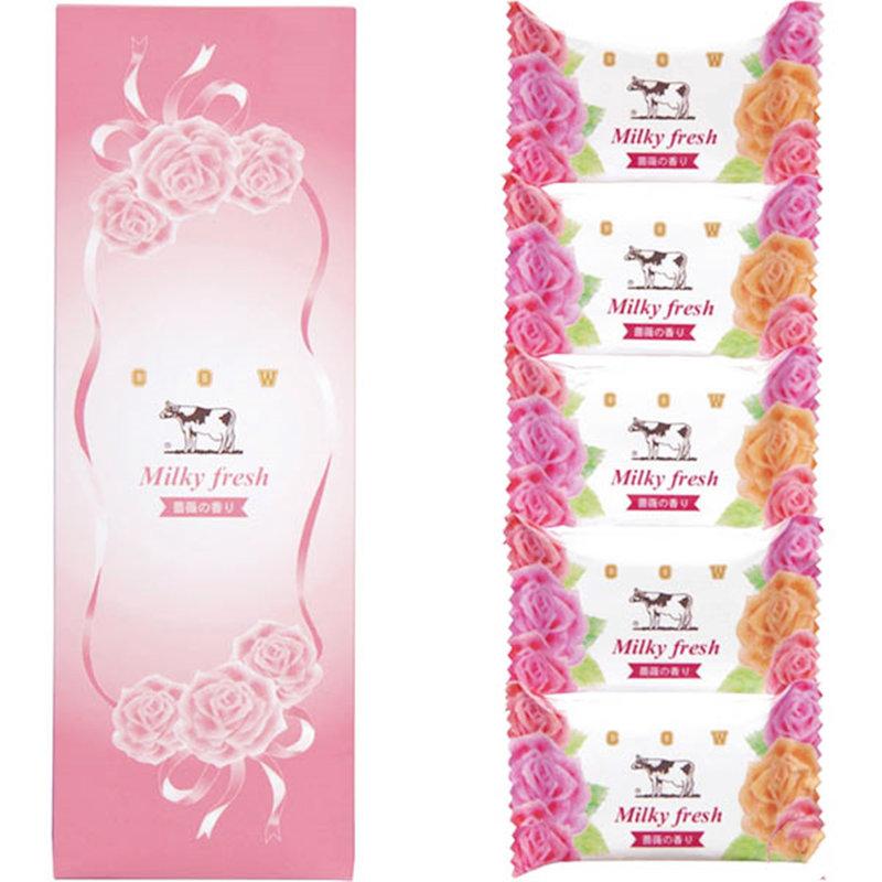 日本製 COW牛乳香皂禮盒 限量薔薇香組