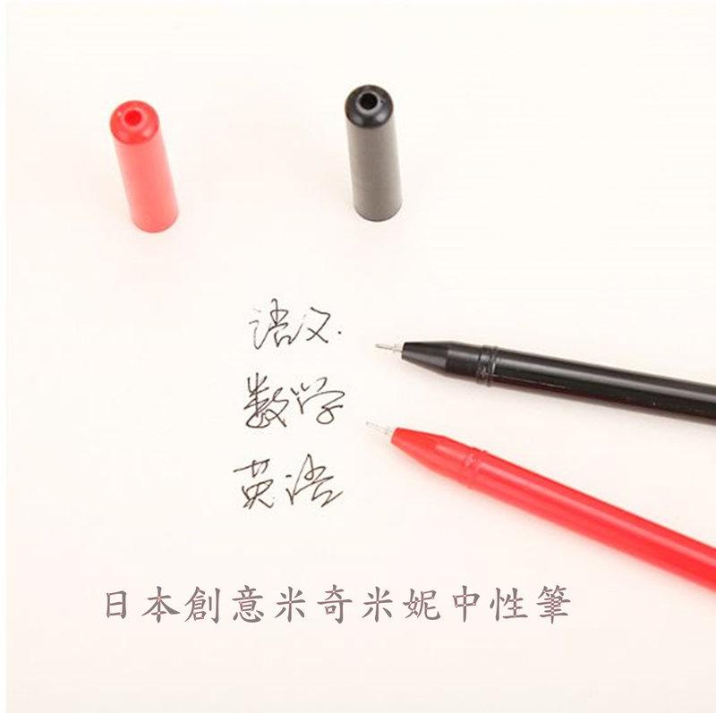 日本創意 米奇米妮頭型中性筆 創意卡通動