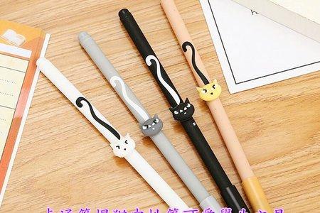 馬卡龍色貓咪中性筆 動物中性筆 創意筆頭