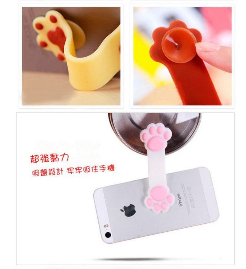 現貨日本進口 貓掌狗爪支架 2用手機捲線