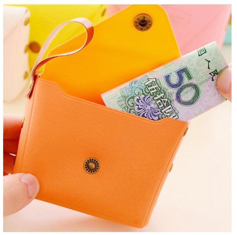 #韓版可愛糖果色皮革小零錢包 #皮革包