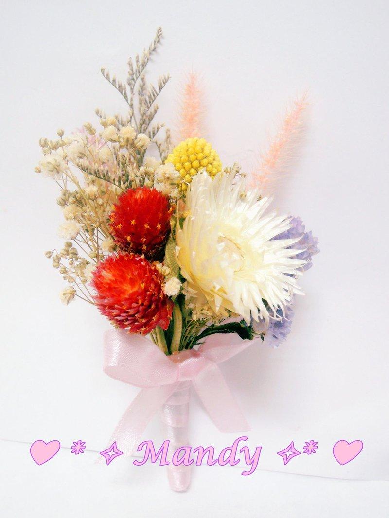 客製化乾燥花胸花
