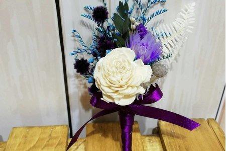 沁琳婚禮客製化乾燥胸花束 乾燥手腕花