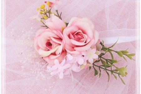 接單製作森林系伴娘新娘手腕花 婚禮