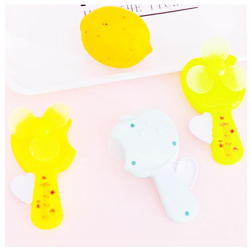 夏季清涼卡通蘋果手壓風扇 兒童玩具迷你手