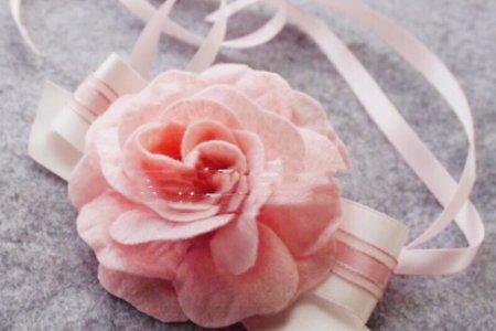 少量現貨 韓式~優雅新娘伴娘胸花 姊妹團手腕花 粉色手腕花